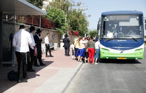 אוטובוס בקורונה