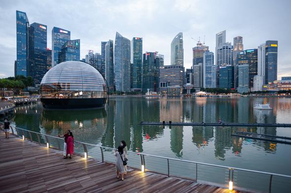 סינגפור חנות צפה אפל , צילום: רויטרס