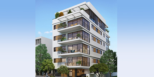 הפרויקט של קבוצת יושפה מסגרת תכלת זירת הנדלן, אדריכלות: מילבאואר אדריכלים