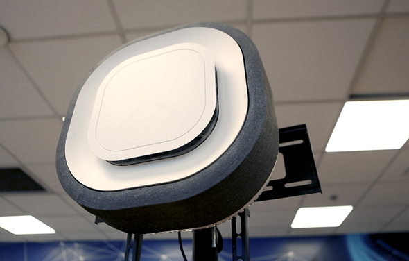 Aura Air's air filtration device. Photo: Tal Azulay