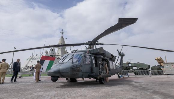 The IDEX defense exhibition in Abu Dhabi