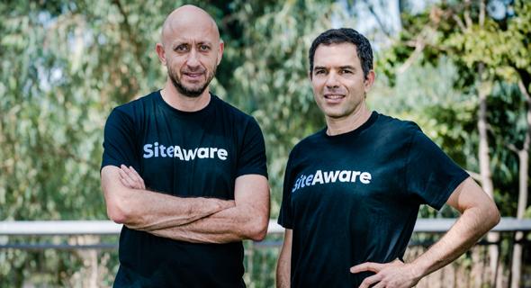 מייסדי SiteAware. מימין: אורי אפק וזאב בראודה