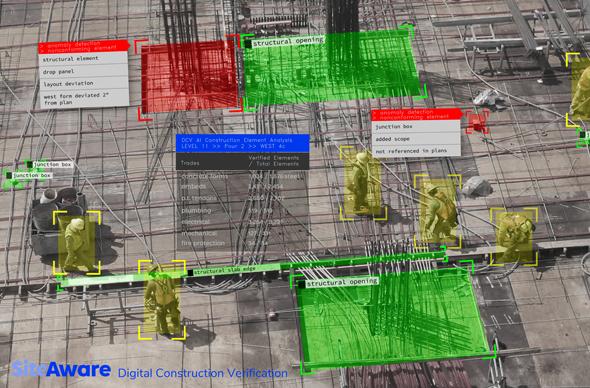 מערכת אימות תקינות דיגיטלית עבור עבודות בנייה של SiteAware