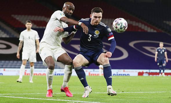 נבחרת ישראל נגד סקוטלנד, צילום: רויטרס