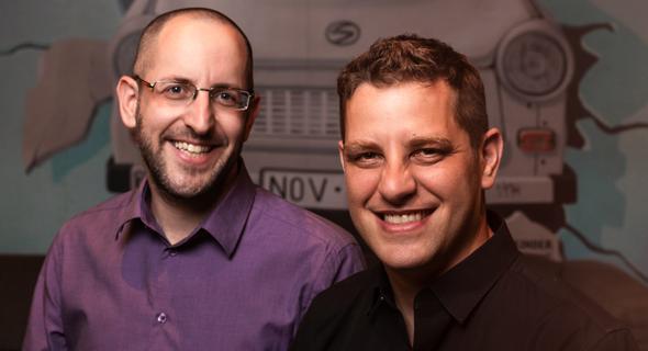 Enroute co-founders Aviv Frenkel (right) and Sagi Levanon. Photo: Boaz Arad