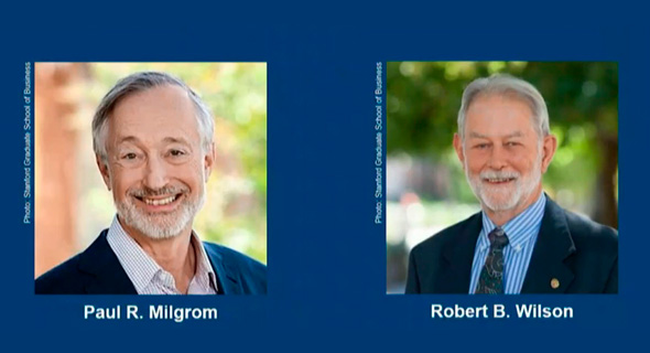 זוכי פרס נובל לכלכלה לשנת 2020, פול מילגרם ורוברט ווילסון, צילום: youtube