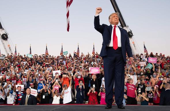 דונלד טראמפ עצרת בחירות פלורידה, צילום: איי אף פי