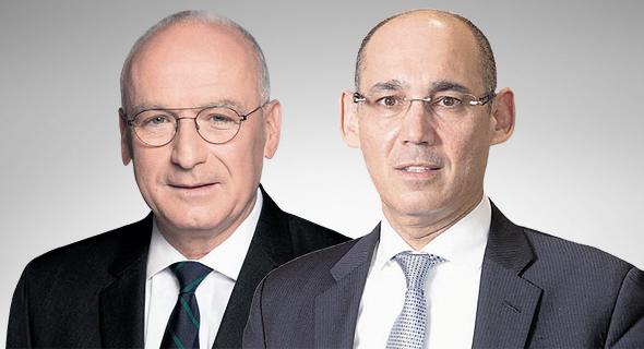 מימין: הנגיד אמיר ירון והמפקח על הבנקים יאיר אבידן