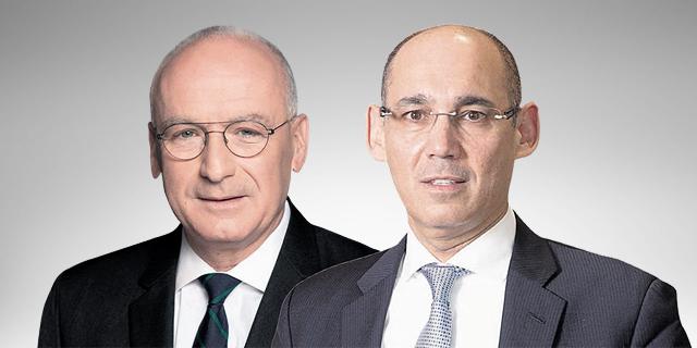 הנגיד אמיר ירון והמפקח על הבנקים יאיר אבידן, צילומים: רמי זרניגר, אלכס קולומויסקי