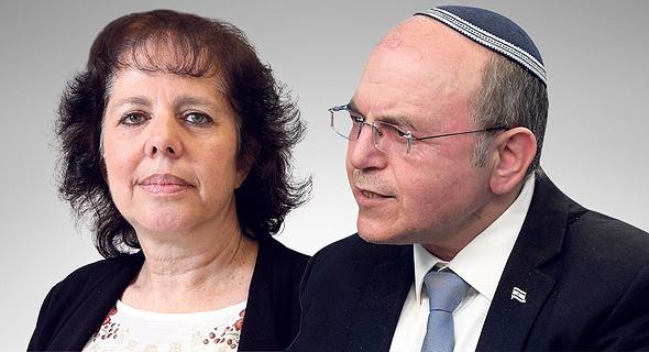 """מימין: ראש המל""""ל מאיר בן שבת וניצה קסיר, מנהלת מחקר במכון החרדי למחקרי מדיניות"""