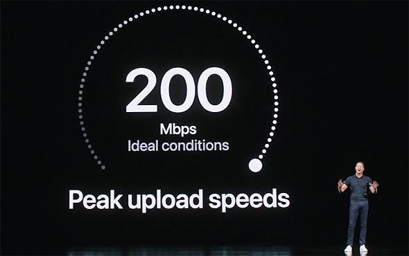 """מהירות האייפון הצפוייה בארה""""ב, צילום מסך: אפל"""