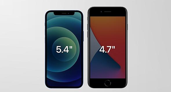 אפל משיקה אייפון 12 גודל, צילום מסך: אפל