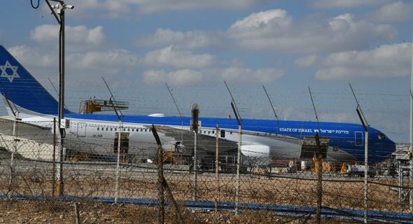 מטוס ראש הממשלה בטיפולים, לאחר הפסקה של מספר חודשים, צילום: יאיר שגיא