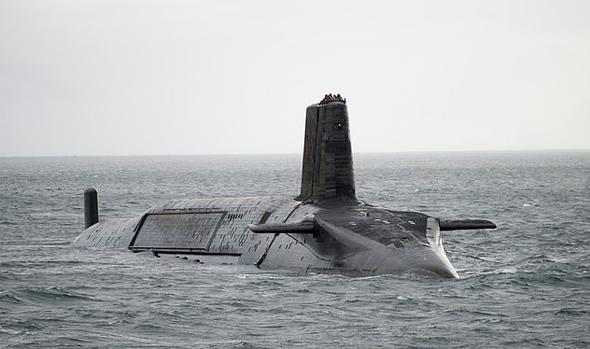 צוללת גרעינית בריטית, צילום: גטי
