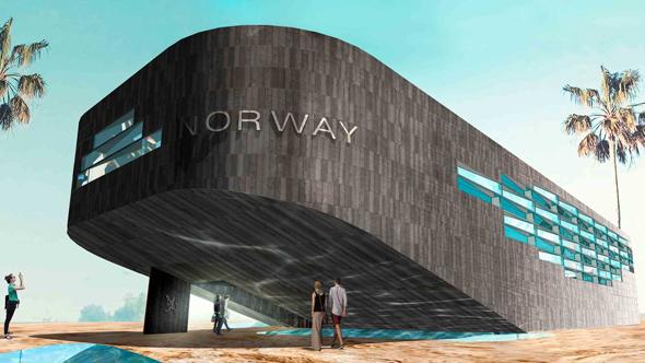 הביתן של נורבגיה באקספו 2020, צילום: expo2020dubai