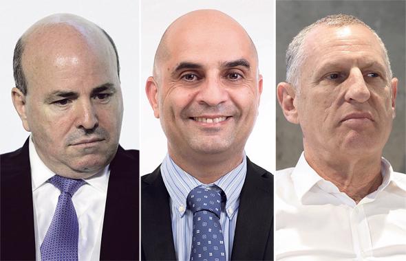 """מימין: ליאור רביב, מנכ""""ל ישרוטל; שחר עקה, סמנכ""""ל הכספים של פתאל; ורונן ניסנבאום, מנכ""""ל מלונות דן. """"פיצוי שואף לאפס"""""""