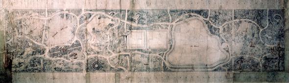 התוכנית המקורית של אולמסטד לפארק המרכזי של ניו-יורק, צילום: New York City Department of Parks The Arsenal