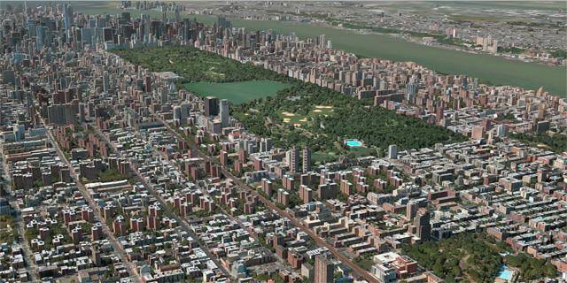 השבילים המפותלים מהונדסים לא פחות מהרחובות הישרים, צילום מסך: מתוך apple map