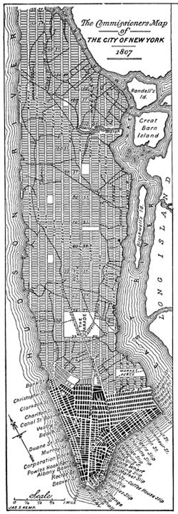 תוכנית הרשת של ניו יורק, צילום:  thegreatestgrid.mcny.org