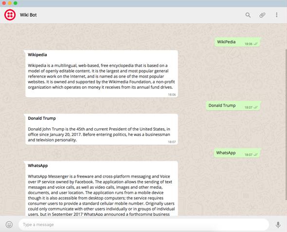 תוסף WikiBot, צילום מסך