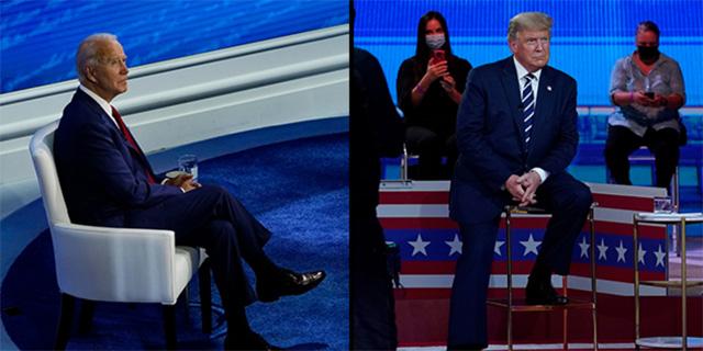 באולמות נפרדים: טראמפ התפתל, ביידן נזהר