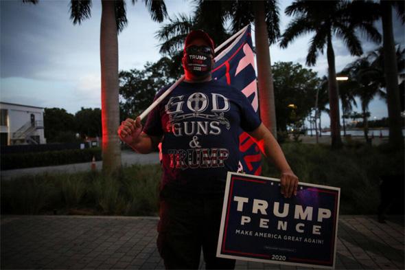 """בחירות בארה""""ב תומך של טראמפ, צילום: רויטרס"""
