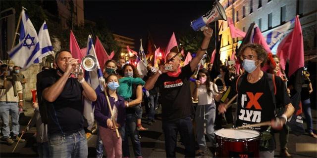 אלפים רבים במחאה נגד נתניהו, עימותים בירושלים