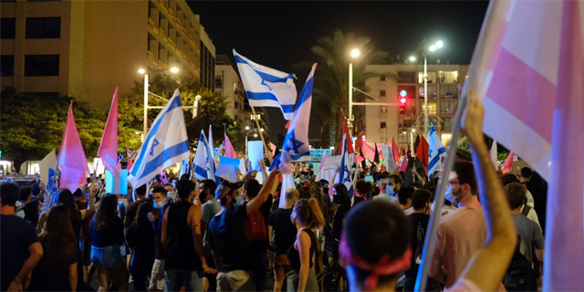 המחאה בתל אביב, צילום: עופר צור