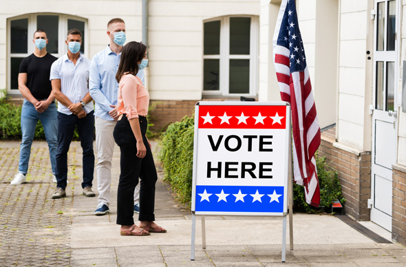 US citizens start casting their vote in what has been an unprecedented election year. Photo: Shutterstock.
