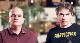 """דן (מימין) ואלון פילץ. """"מי שיצא מהסנטר הם עסקים חלשים, שהתנדנדו עוד לפני הקורונה"""", צילום: אוראל כהן"""