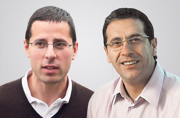 ויקטור שמריך מווליו בייס ו ג'רמי בלנק נציג קרן יורק בישראל , צילומים: עמית שעל, אוראל כהן