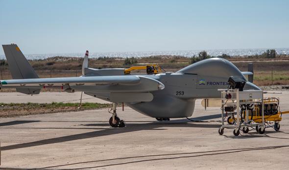A Frontex leased UAV. Photo: IAI