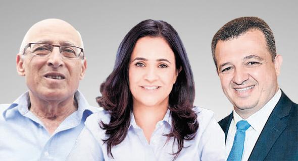 מימין: כרמל שאמה־הכהן, ליאת שוחט ומוטי ששון. ראשי העיר שתומכים בדרך של בני ברק