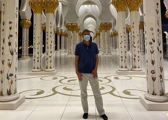 Michael Eisenberg during his recent visit to Abu Dhabi. Photo: Aleph