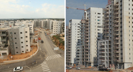 מימין ראש העין ו העיר חריש, צילום: אוראל כהן, אלעד גרשגורן
