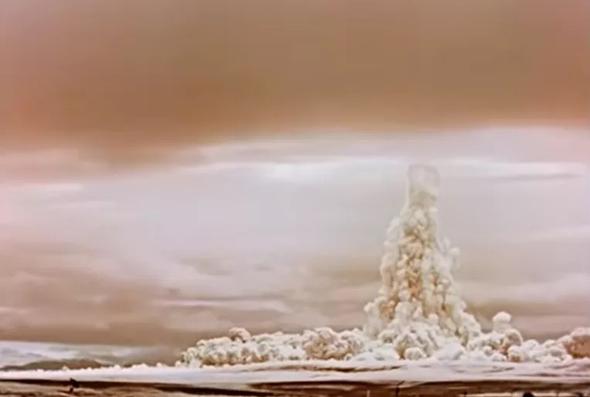 תצלום הפיצוץ מהקרקע, צילום: sputnik