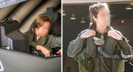 Israel's only female F-35 pilot Capt S. Photo: IDF Spokesperson