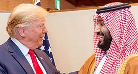 """משמאל נשיא ארה""""ב דונלד טראמפ ויורש העצר הסעודי מוחמד בן סלמאן, צילום: רויטרס"""