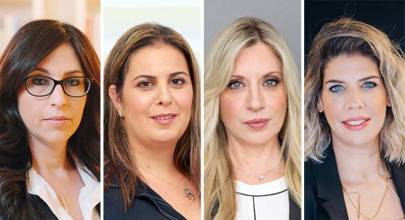 עורכות הדין (מימין) מורן סמון, רות דיין וולפנר, מאיה רוטנברג ויהודית מייזלס