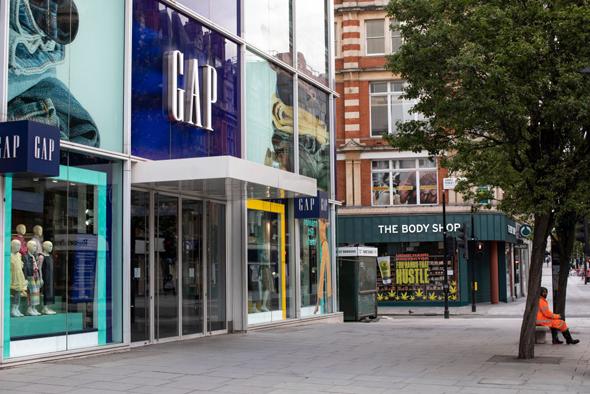 חנות גאפ בלונדון, צילום: גטי