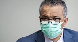 """מנכ""""ל ארגון הבריאות העולמי טדרוס אדהנום גריבריסוס, צילום: אי פי איי"""