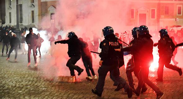 הפגנות נגד ההגבלות באיטליה