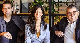 Aristagora partners Moshe Sarfaty (left), Anat Tila Cherni and Gideon Ben-Zvi. Photo: Doron Letzter