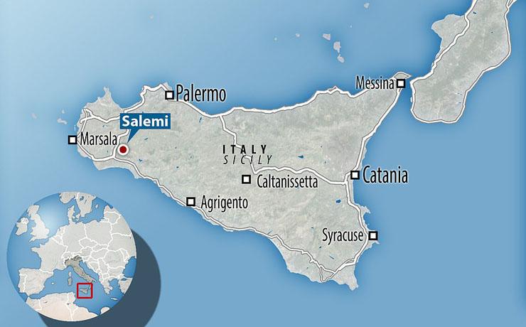 המפה של סיציליה
