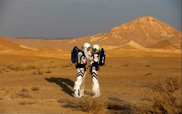 מתקן הדמיית מאדים במכתש רמון , צילום: אבישג שאר ישוב