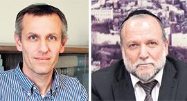 מימין: שר הבינוי יצחק כהן ויעקב קוינט. נדרשה יותר שקיפות, צילומים: בשמת איבי, עומר מסינגר