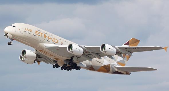 מטוס של חברת התעופה איתיחאד איירווייז, צילום: שאטרסטוק