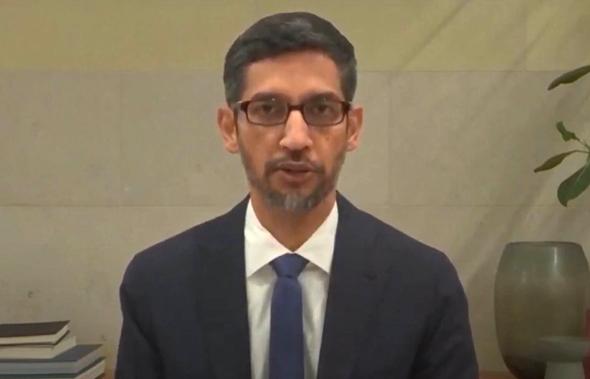 """סונדאר פיצ'אי, מנכ""""ל גוגל בעדות בקונגרס"""