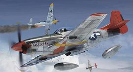 איור מטוסי מוסטנג בקרב, צילום: airfix
