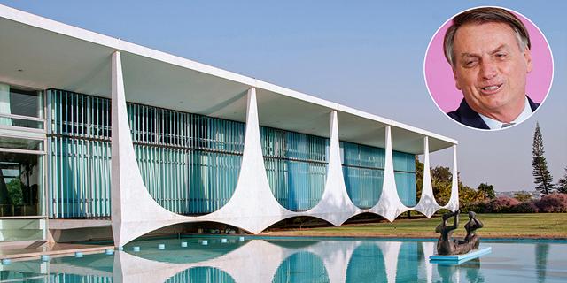 ברזיל מעון הנשיא ארמון אלבורדה Alvorada בולסונרו, צילום: שאטרסטוק, רויטרס